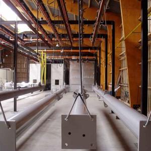 Peinture industrielle pièce de grandes longueurs poteaux piscine cavam