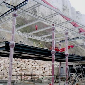 Peinture industrielle pièce de grandes longueurs funiculaire